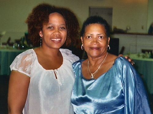 with Mama Joan, 2004