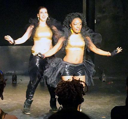 Kelly (back) and Omoladun