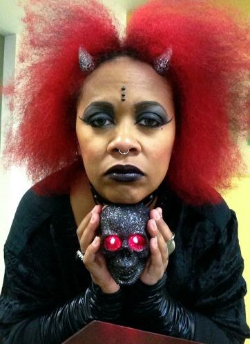 Black lipstick - Halloween 2014
